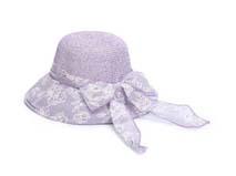 凯维帽业-浅紫色女士夏季遮阳草帽工厂专业订制加工 蝴蝶结-CZ117