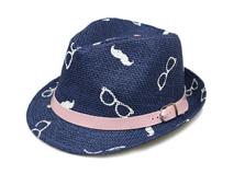 黑白视频体育直播-眼镜印花夏季草编定型帽 男女款 21年制帽经验-CZ130