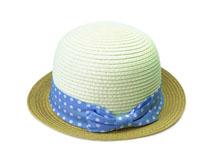 凯维帽业-小清新款蝴蝶结撞色拼接草编遮阳帽子ODM生产加工-CZ135