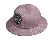 凯维帽业-简约格子绣花六瓣渔夫帽出口贴牌订做加工 夏季 新款-YM133