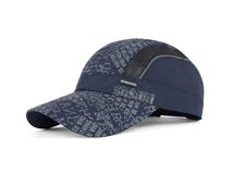 凯维帽业-夏季印花字母网布拼接透气运动帽HT044