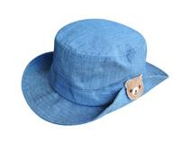 凯维帽业-蓝色小熊简约儿童春夏户外遮阳盆帽YM143