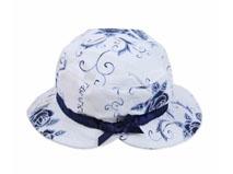 凯维帽业-复古印花蝴蝶结遮阳渔夫帽YM146