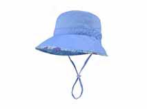 凯维帽业-简约蓝色女士渔夫边帽ODM加工定做YT135