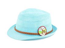 凯维帽业-纯色新款绣花草编遮阳定型帽订制 小清新款 春夏