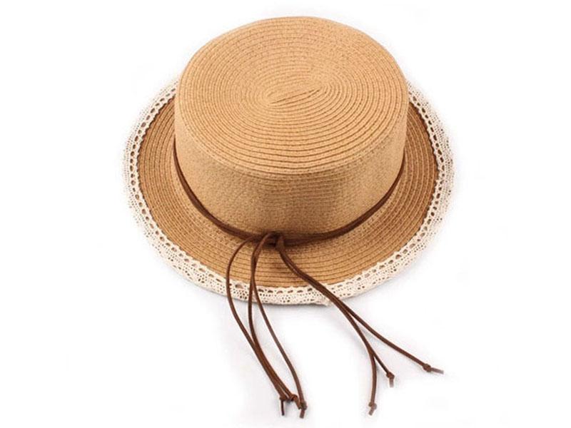 凯维帽业-淑女必备 夏季海边防晒草帽CZ140