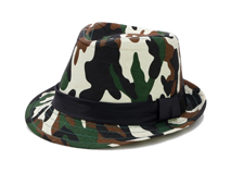 凯维帽业-迷彩定型礼帽订制 DM059