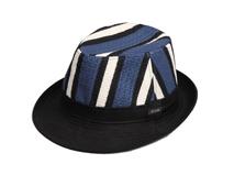 凯维帽业-撞色拼接条纹欧美风草编定型帽 DM063