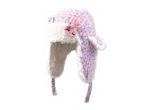 凯维帽业-女童碎花可爱兔子雷锋帽定做RH145