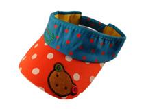 凯维帽业-儿童圆点撞色拼接可爱空顶帽定做RM085