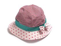 黑白视频体育直播-女童条纹撞色拼接渔夫帽定做RM089