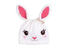 凯维帽业-儿童 婴儿兔子可爱套头帽定做