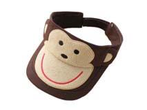 凯维帽业-儿童可爱卡通猴子空顶帽定做