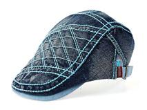 凯维帽业-儿童业牛仔布洗水 新款单色简约 鸭舌帽广州帽子工厂