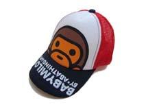 凯维帽业-儿童卡通猴子棒球帽 网帽定做
