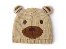 凯维帽业-儿童卡通熊针织帽