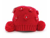 凯维帽业-双球球针织帽订制
