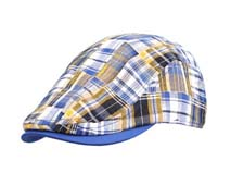 凯维帽业-儿童时尚格子鸭舌帽定做RM139