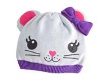 凯维帽业-可爱猫咪 针织套头帽定做RM172