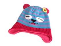 凯维帽业-儿童小熊条纹针织帽定做RM176
