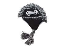 凯维帽业-儿童斑马护耳保暖针织帽定做 RM179