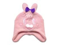 凯维帽业-儿童小兔子蝴蝶结可爱针织帽定做 RM178