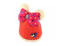 凯维帽业-儿童大蝴蝶结可爱针织帽定做RM187