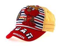 凯维帽业-新款儿童条纹卡通动物棒球帽定做RM189