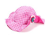 凯维帽业-新款儿童泡泡纱折边边帽RM191