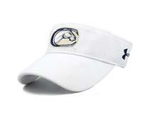 黑白视频体育直播-白色遮阳空顶帽订制定做 KM048
