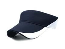 凯维帽业-经典黑白色夏季遮阳网球帽 空顶帽