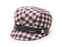 凯维帽业-女士靓丽格子秋冬保暖时装帽