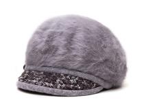 凯维帽业-广州帽厂订做仿毛女士秋冬保暖时装鸭舌帽