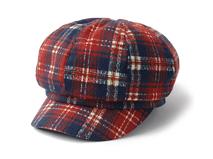 凯维帽业-女士靓丽格子时尚潮流鸭舌帽定制