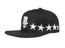黑白视频体育直播-韩版嘻哈街舞帽 骷髅头样式 户外运动帽