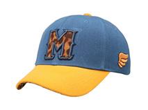 凯维帽业-高端撞色拼接绣花字母六页遮阳棒球帽BJ316