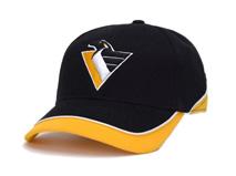 凯维帽业-撞色拼接企鹅绣花高端六页棒球帽BJ318