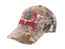 凯维帽业-新款鹿角绣花字母森林迷彩棒球帽 BM182
