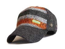 凯维帽业-新款条纹秋冬保暖毛线棒球帽BM191