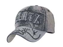 凯维帽业-新款超弯帽舌六页牛仔时装棒球帽BM193