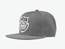 黑白视频体育直播-简约单色浅灰 贴布绣花 平板帽-PM226