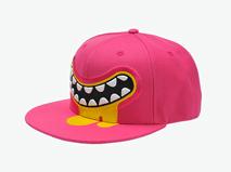 凯维帽业-韩版女士牙齿印花平板帽 PM238