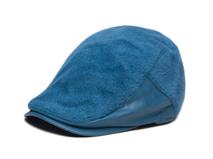 凯维帽业-蓝色简约仿毛急帽 鸭舌帽-EH086