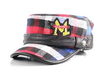 凯维帽业-格子PU皮儿童军帽定做 RM198