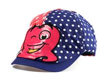 凯维帽业-卡通点点拼接鸭舌帽儿童订做RM201