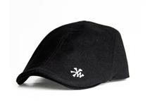 黑白视频体育直播-黑色简约绣花男士鸭舌帽 EM058