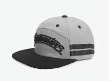 凯维帽业-纯白色简约条纹拼接PM246