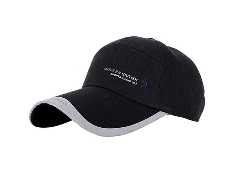 黑白视频体育直播-男士运动帽 纯色吸汗遮阳棒球帽HM047