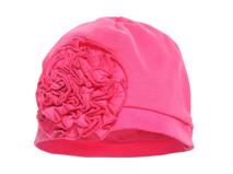 凯维帽业-纯色儿童 婴儿大花套头帽AM048