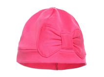 凯维帽业-纯色全棉大蝴蝶结简约小女孩套头帽  -AM050